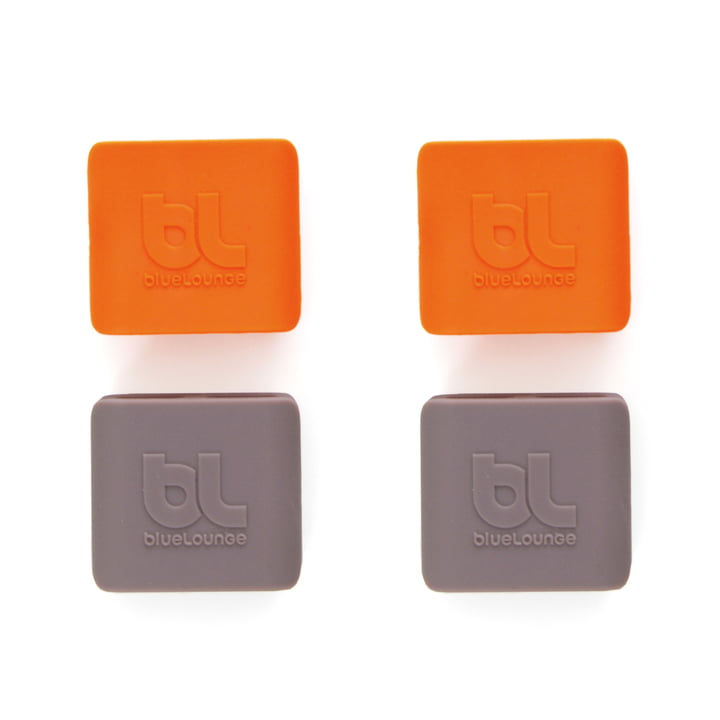 Bluelounge - CableClip, medium: grau und orange