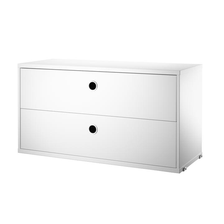 Schrankmodul mit Schubladen 78 x 30 cm von String in Weiss