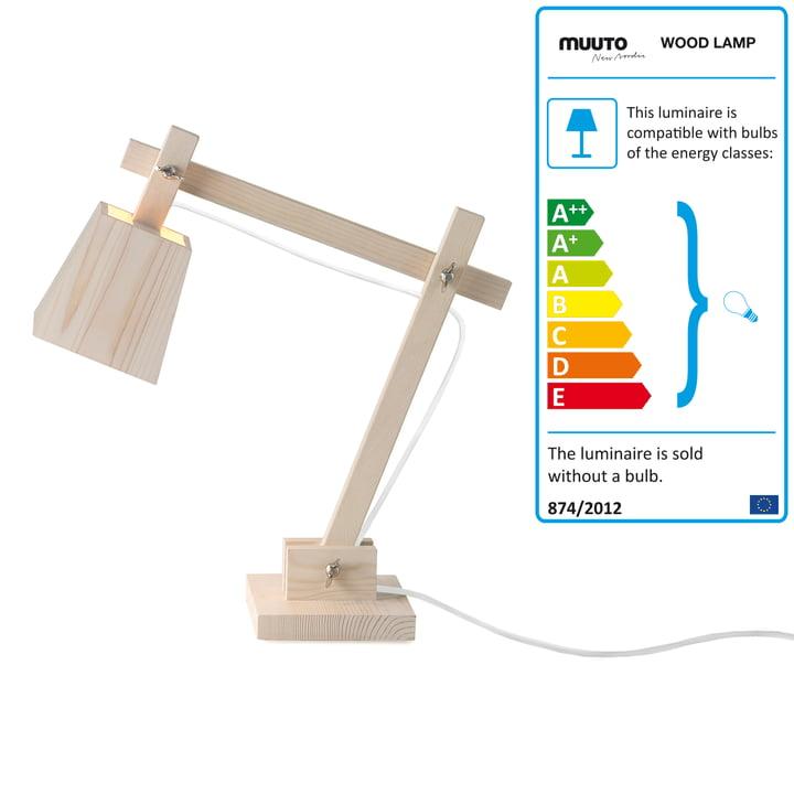 Muuto - Wood Lamp, Kabel weiss