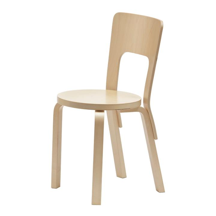 Stuhl 66 von Artek aus Birkenfunier