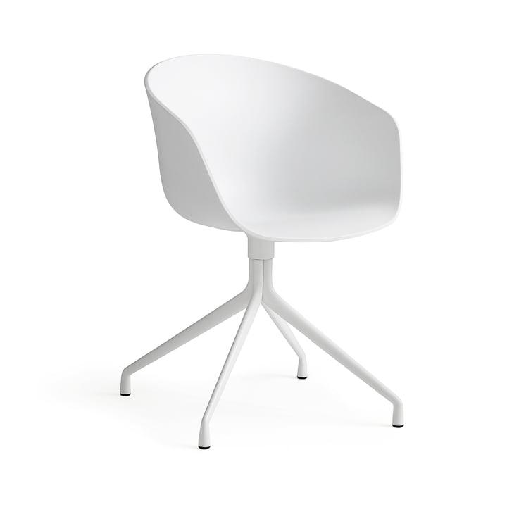 Hay About a Chair - Vierbeingestell mit Armlehnen, weiss