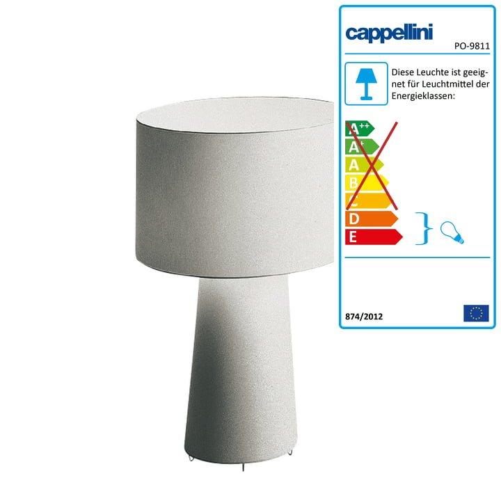 Cappellini - Progetto Oggetto Tischleuchte PO/9811
