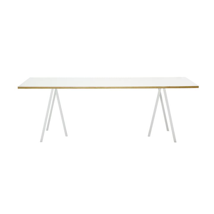 Hay Loop Stand Tisch, 160, weiss