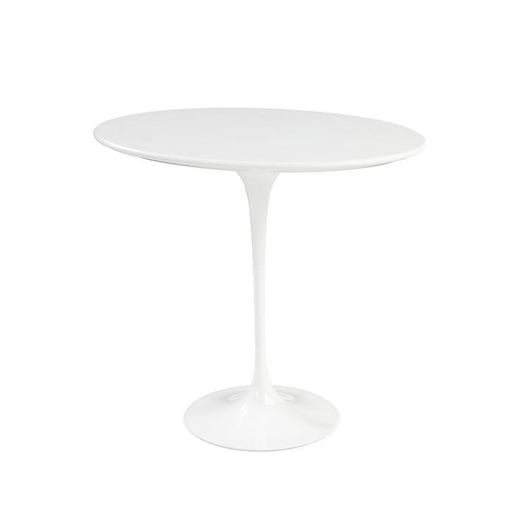 Knoll - Saarinen Tulip Beistelltisch rund, Laminat weiß / weiß
