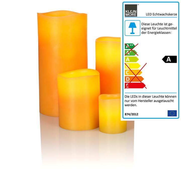 LED Echtwachskerze von Klein & More aus Bienenwachs