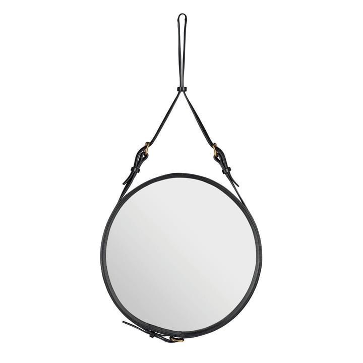 Adnet Spiegel Ø 58 cm von Gubi in Schwarz