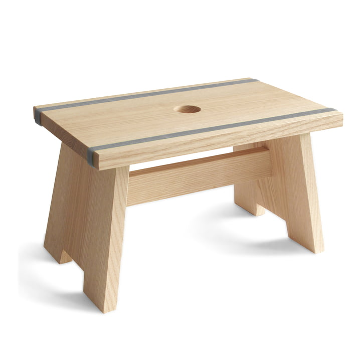 side by side - Fussschemel Little Stool - blaugrau