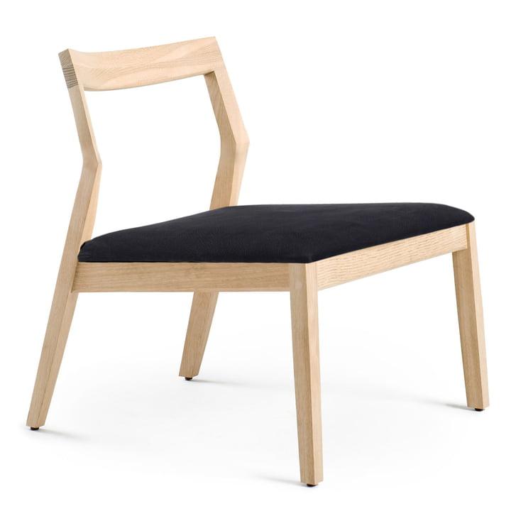 Knoll - Lounge Chair ohne Armlehnen, Eiche / Divina schwarz