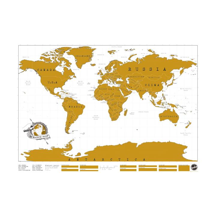 Luckies - Scratch Map Weltkarte zum frei Kratzen