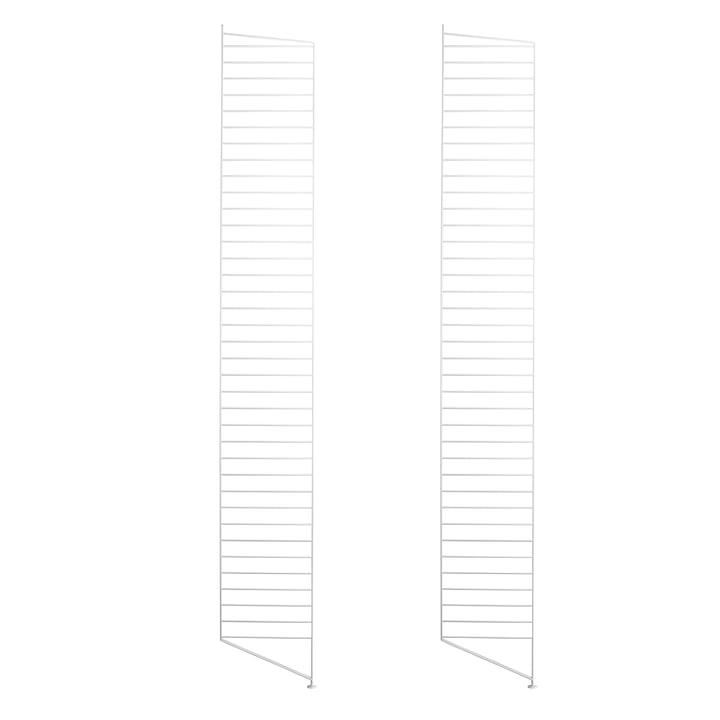 Bodenleiter für String Regal 200 x 30 cm (2er-Set) von String in Weiss