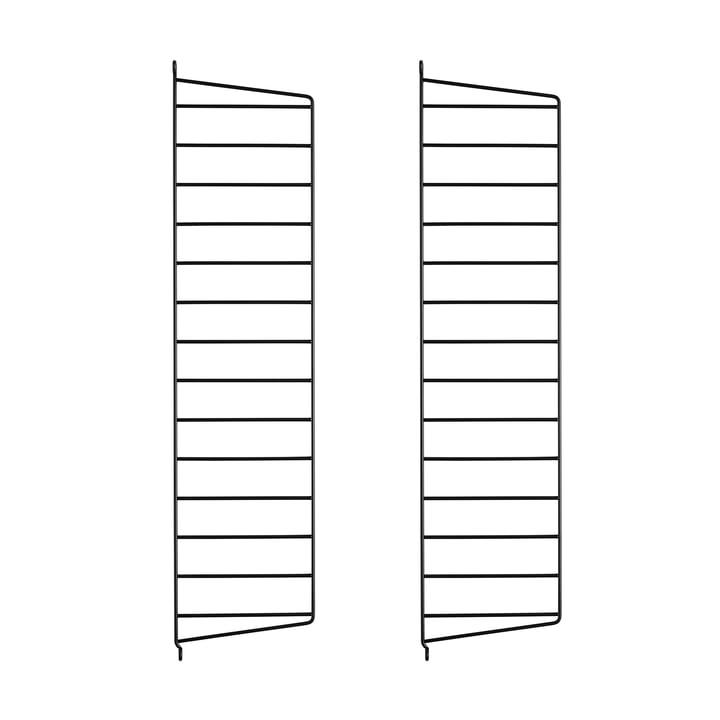 Wandleiter für String Regal 75 cm von String in Schwarz (2er-Pack)