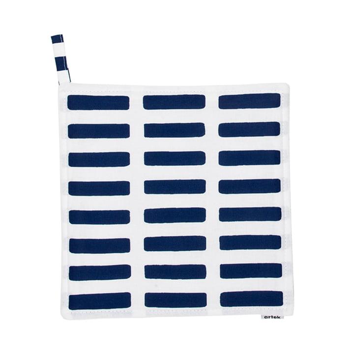 Artek - Siena Topflappen, weiss/ blau