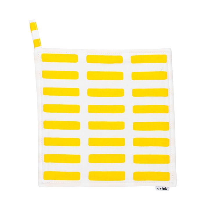 Artek - Siena Topflappen, weiss/ gelb