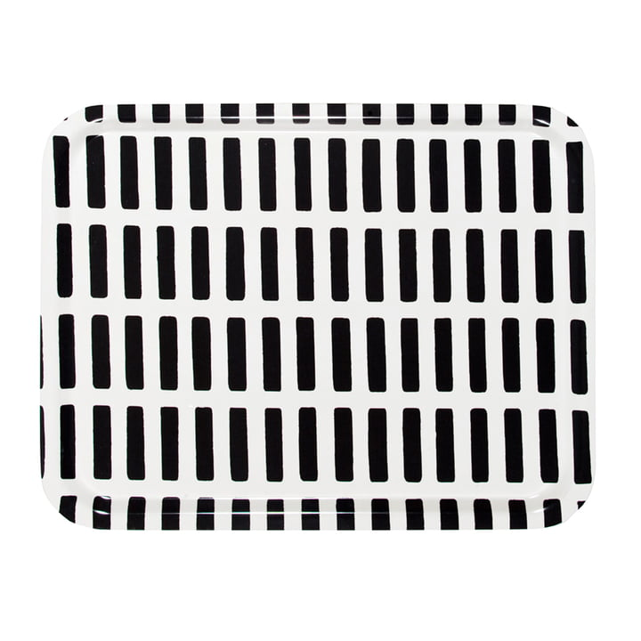 Artek - Siena Tablett, gross, weiss/ schwarz