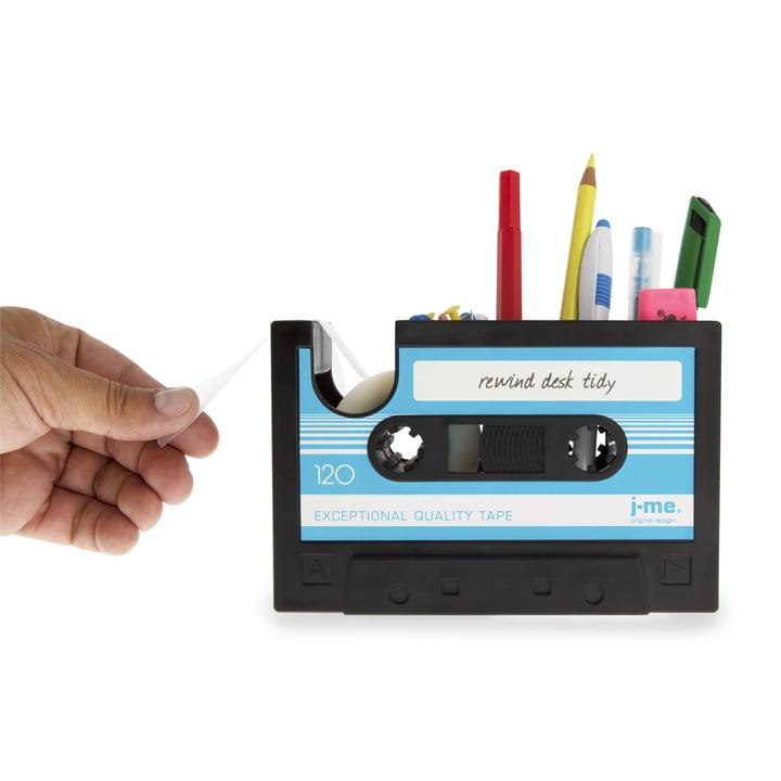 j-me - Rewind Schreibtischhelfer, blau - gefüllt