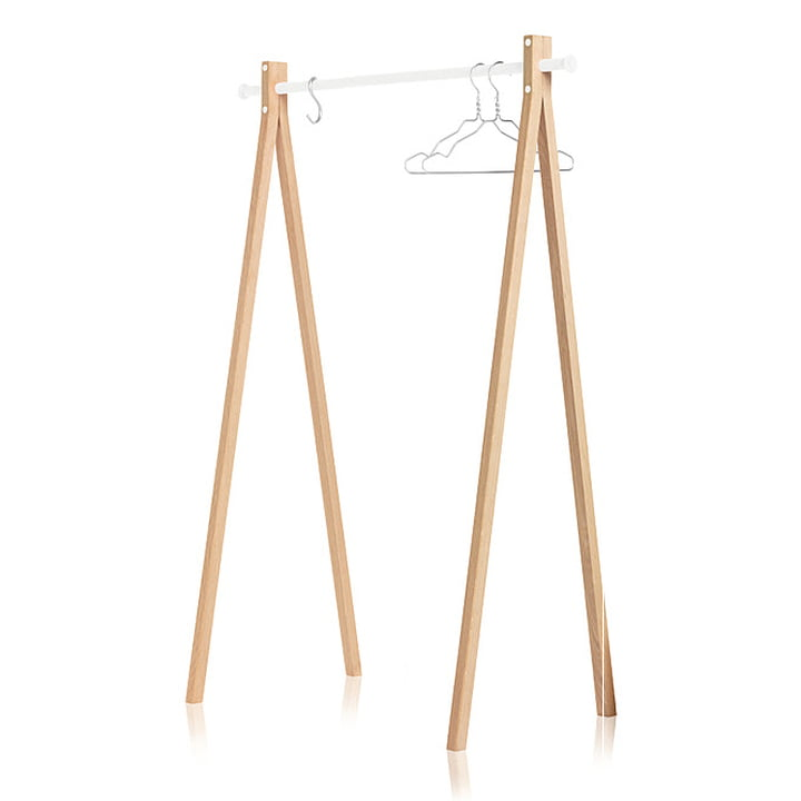 Nomess - Dress-Up Garderobenständer, Esche, weiss, 120 cm