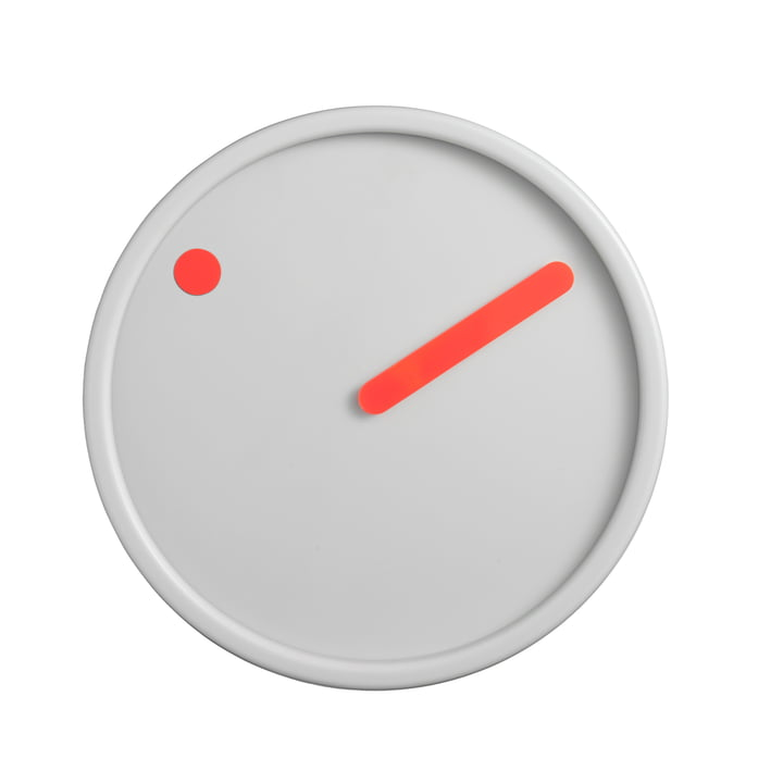 Rosendahl Timepieces - Picto Wanduhr, orange auf hellgrau