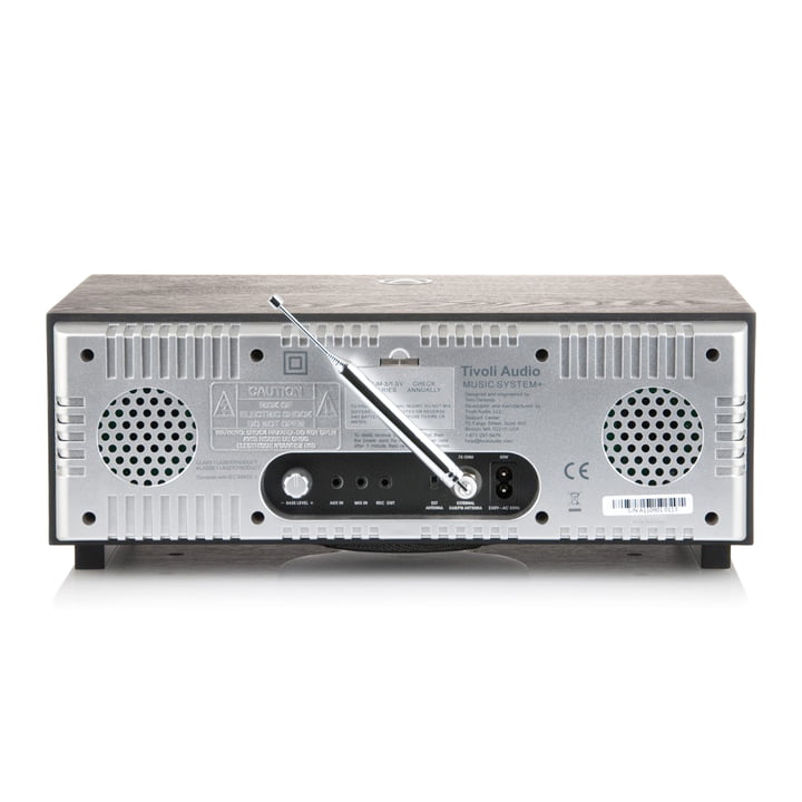Tivoli Audio - Music System+ BT, schwarz / silber - Rückseite