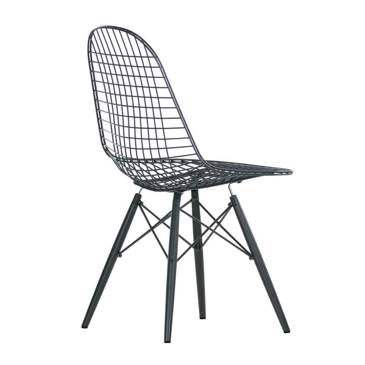 Vitra - Wire Chair DKW, Ahorn schwarz - schräg hinten
