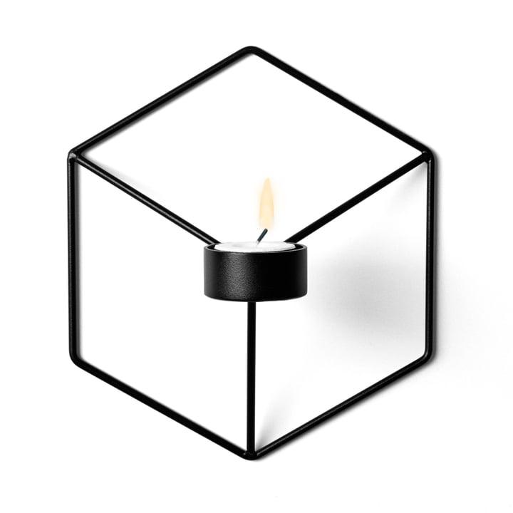 Menu - POV Wand-Teelichthalter, schwarz
