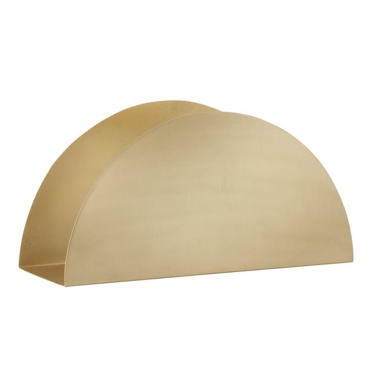 ferm Living - Brass Semicircle Papierhalter - schräg