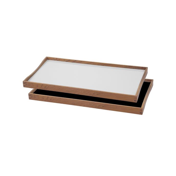 Das Tablett Turning Tray von ArchitectMade, 23 x 45 cm, weiss
