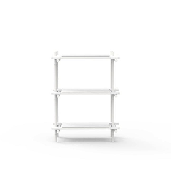 Menu - Stick System, Regal, weiss / weiss, 1 x 3