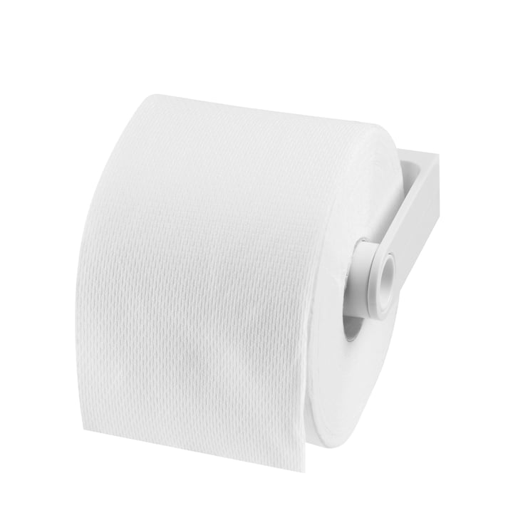 Authentics - Lunar Toilettenpapierhalter, weiss - mit Papier