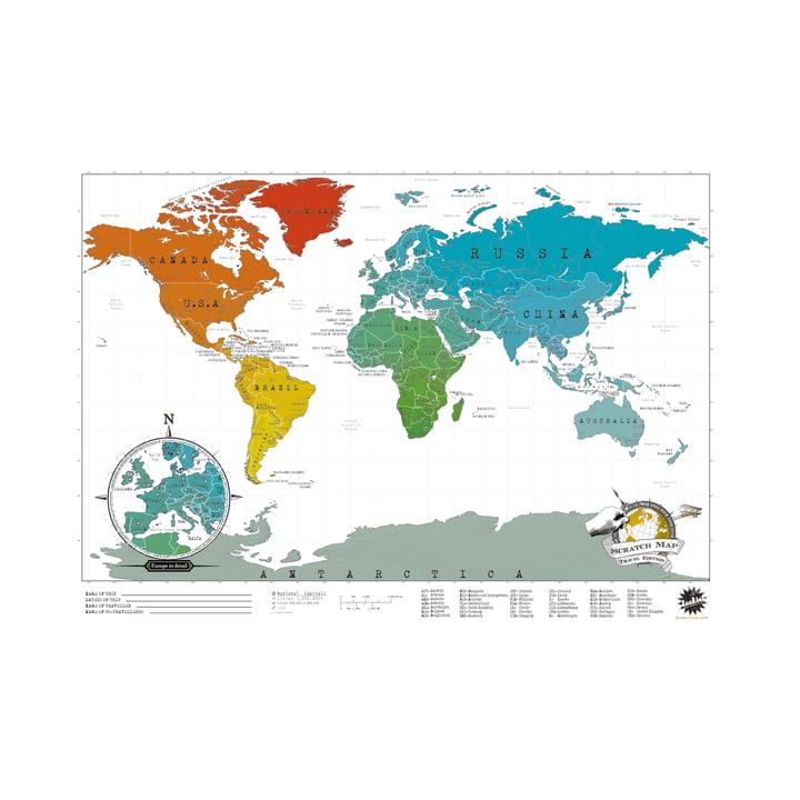 Luckies - Scratch-Map Travel Edition, freigerubbelte Länder