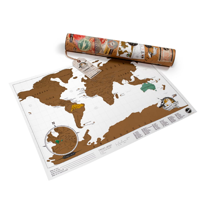 Luckies - Scratch-Map Travel Edition, mit Verpackung
