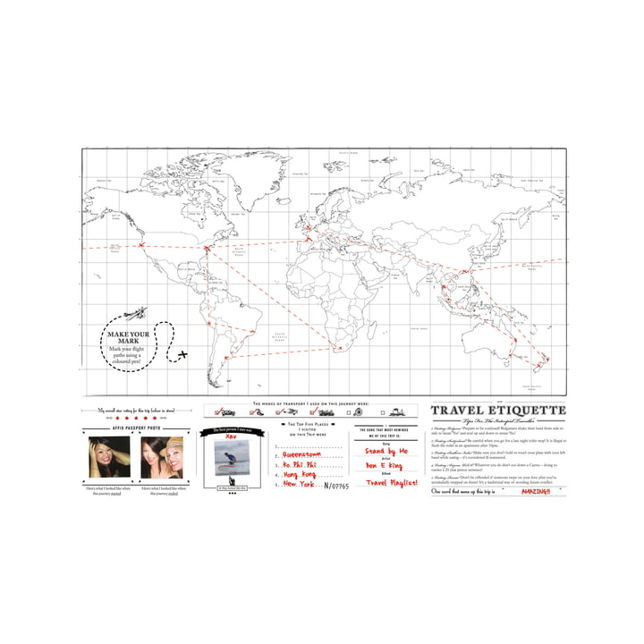 Luckies - Scratch-Map Travel Edition, Rückseite