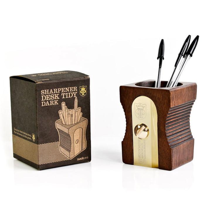 Suck UK - Sharpener Desk Tidy, single, dark - mit Verpackung