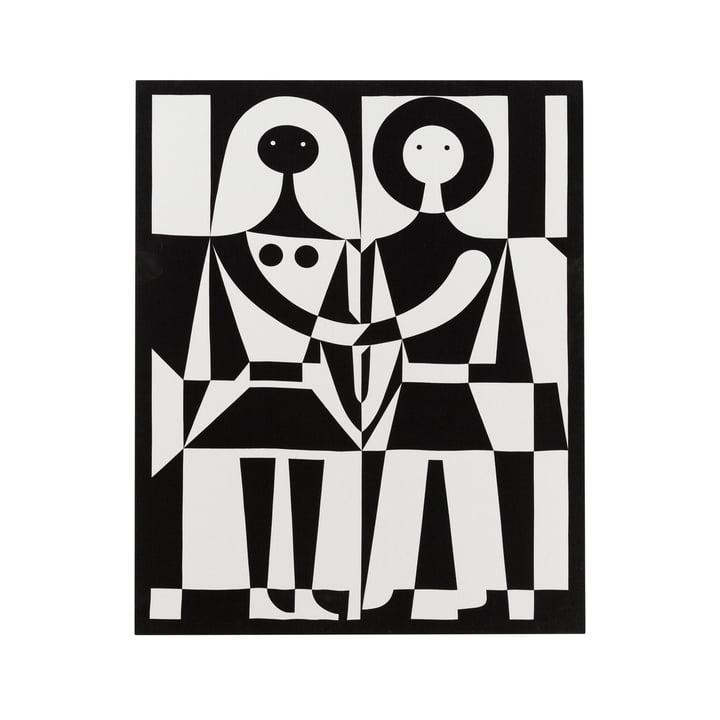 Vitra - Black and White Leinwand Grafik