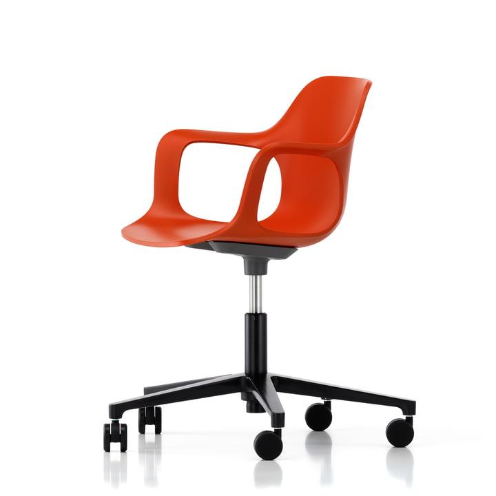 Hal Studio Bürodrehstuhl von Vitra in Rot-Orange