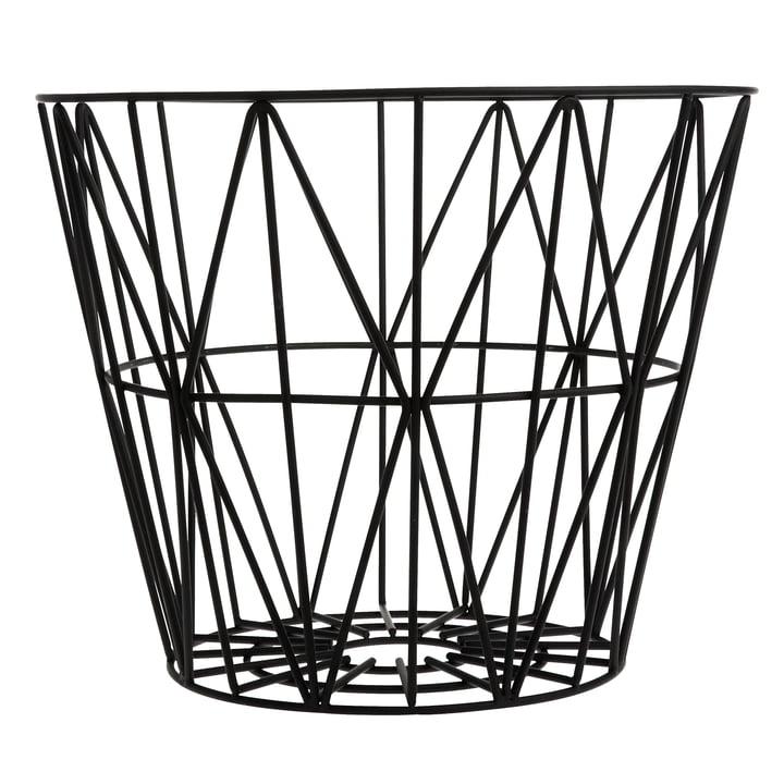 Wire Basket Large von ferm Living in Schwarz