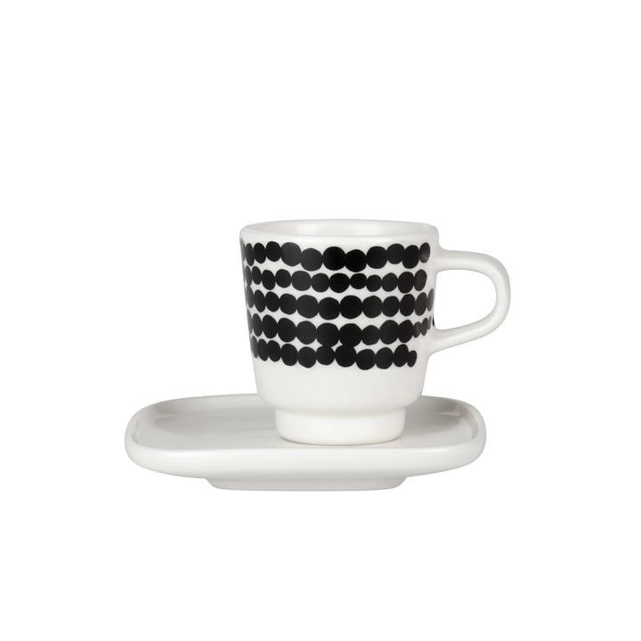 Marimekko - Oiva Räsymatto Espressotasse schwarz / weiss