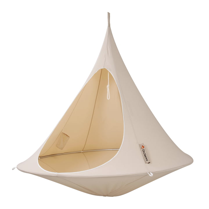 Cacoon - Double Hängesessel, natural white