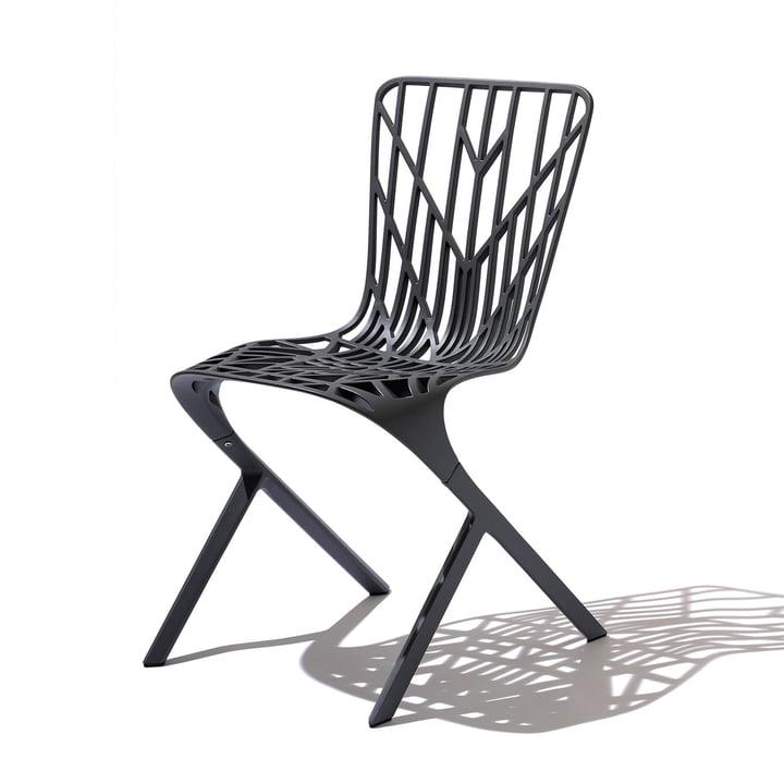 Knoll - Washington Skeleton Chair, Aluminium schwarz