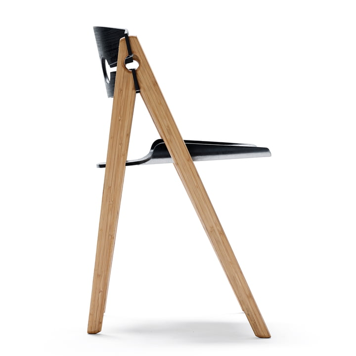 We do wood - Dining Chair no. 1 schwarz, Seitenansicht