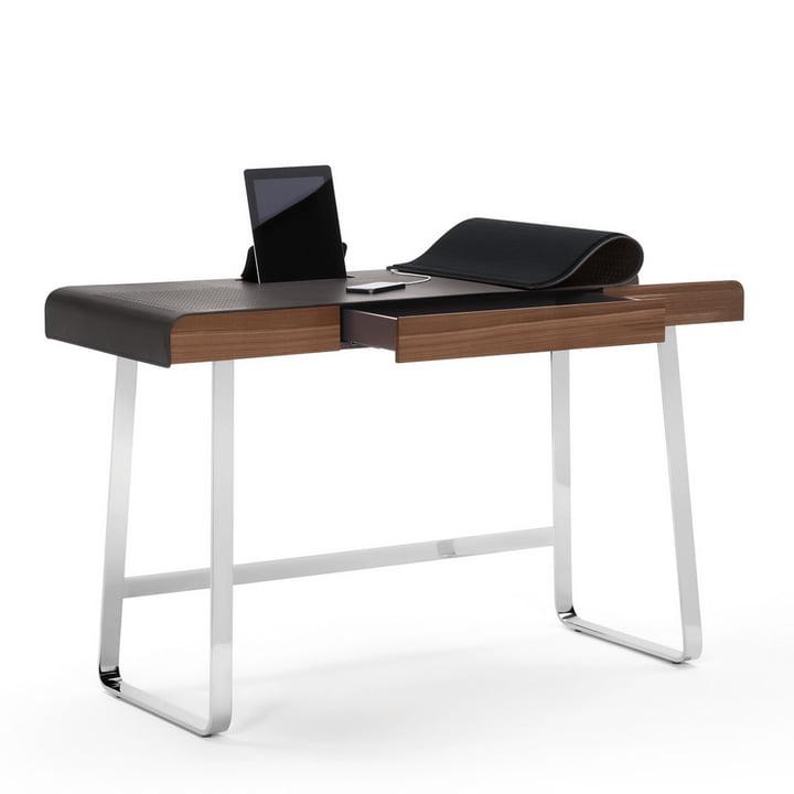 ClassiCon - Pegasus Home Desk, verchromt, Nussbaum