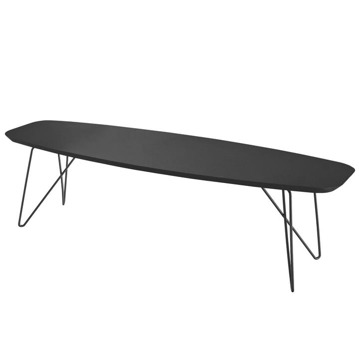 Zanotta - Ink Beistelltisch, 60 x 160 cm, schwarz
