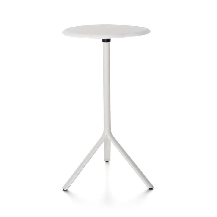 Plank - Miura Tisch, Höhe 109 cm, Metallplatte, weiss