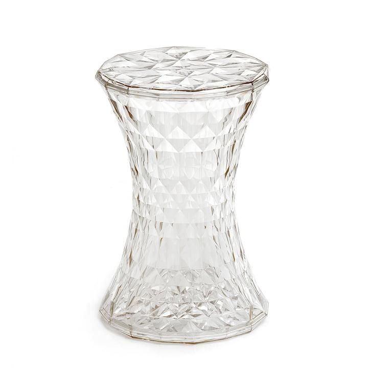 Kartell - Stone Beistelltisch und Hocker, glasklar