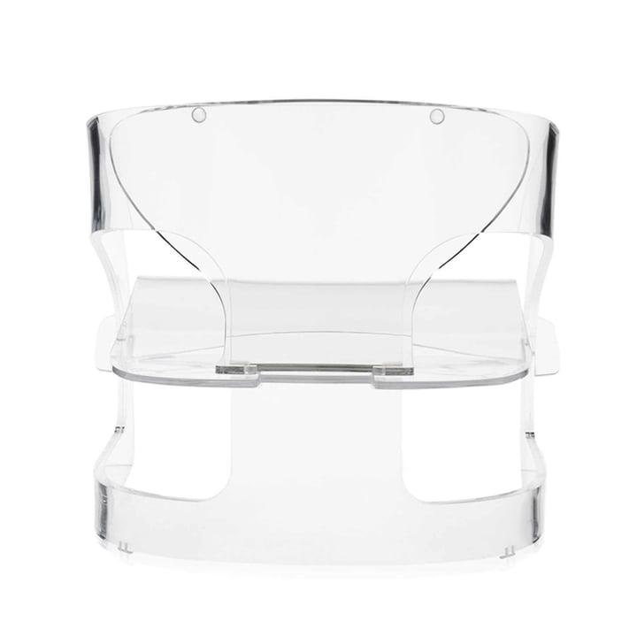 Kartell - Joe Colombo Sessel, transparent - hinten