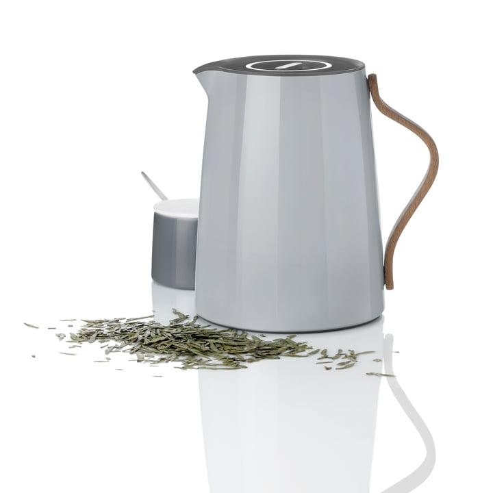 Stelton - Emma Teeisolierkanne 1 l, grau und Zuckerschale