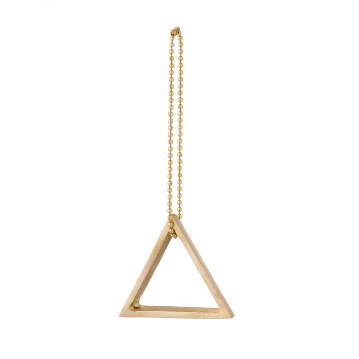 ferm Living - Messing-Ornament, Dreieck