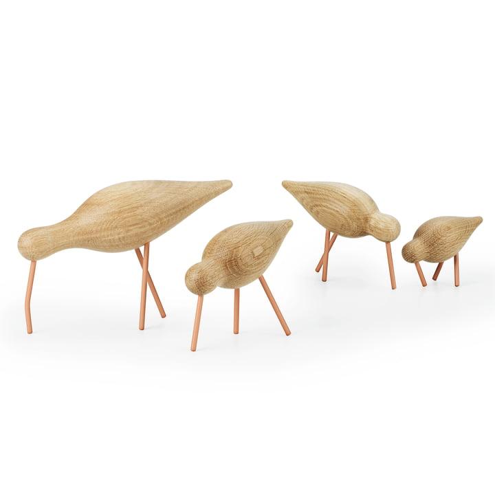 Shorebird von Normann Copenhagen in Eiche mit Stahl in Coral