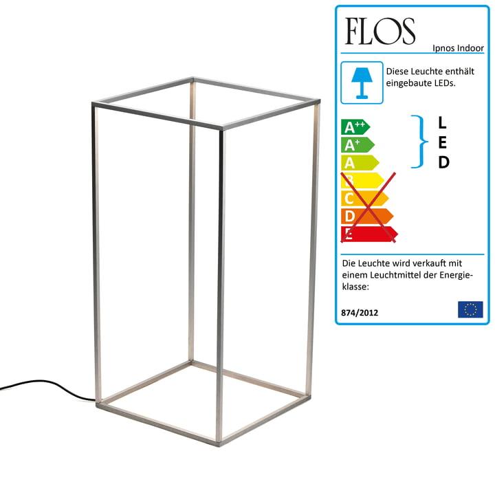 Flos - Ipnos Indoor Bodenleuchte, silber anodisiert