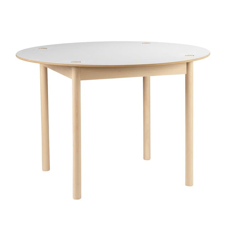 Hay - C44 Tisch, Ø 110 cm, Buche geseift, weiss