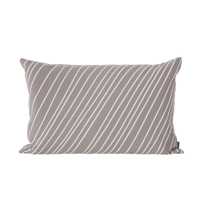 Striped Kissen von ferm Living in Grau und Weiss
